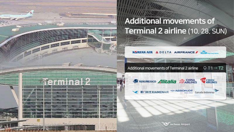 接下來到韓國旅遊的朋友注意啦!中華航空在28日開始改到仁川機場第二航廈報到!