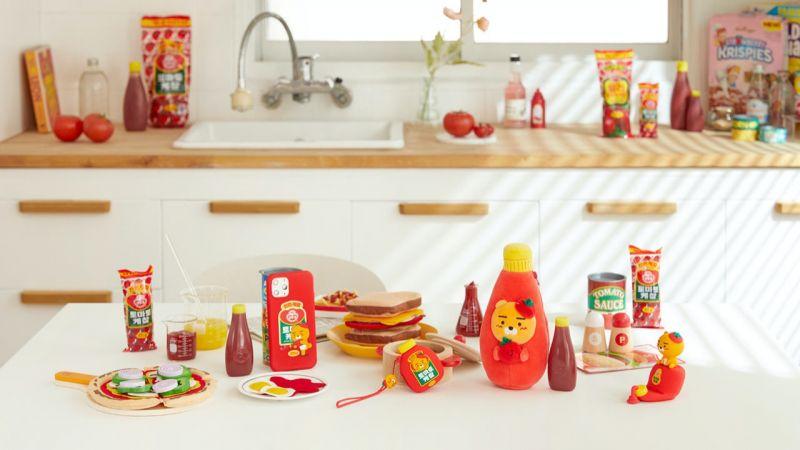 Kakao Friends的Ryan&不倒翁推聯名:這西紅柿炒雞蛋的配色太可愛了,全都想買~♥