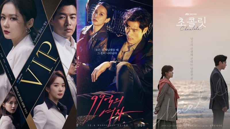 韩国12月首周:电视剧话题性前三名《VIP》《99亿的女人》《巧克力》