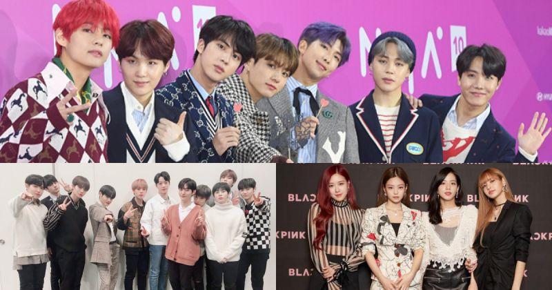 【歌手品牌评价】BTS防弹少年团成功卫冕 前十名里就有七组女团!