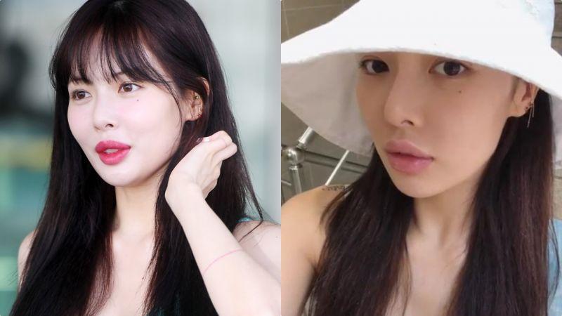 被質疑豐唇的泫雅這次曬出了素顏照,韓國網民看完這麼說...
