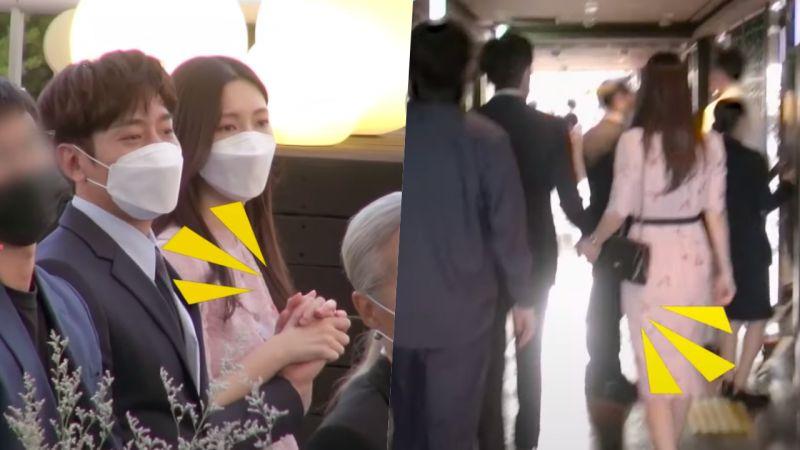 神话Eric带妻子参加JunJin婚礼,十指紧扣不放开!全程照顾有加真的太甜啦~❤