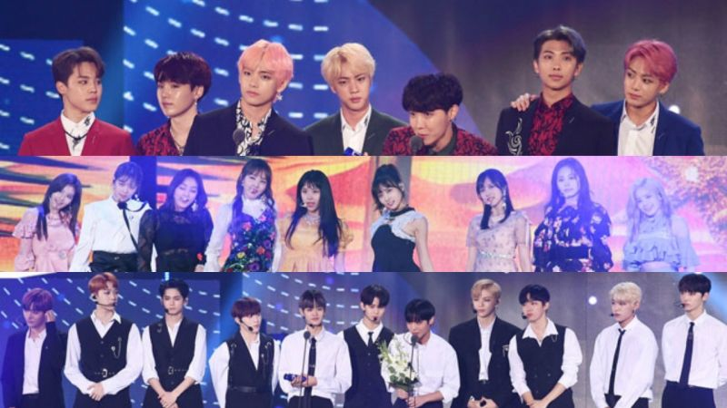 「2018 SOBA」获奖名单大整理!防弹少年团三冠王,Wanna One、TWICE双冠王