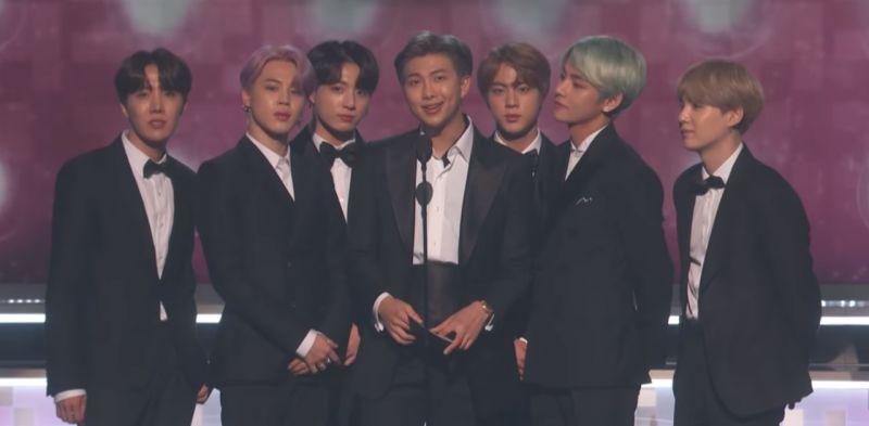 韓國第一團!BTS防彈少年團出席Grammys擔任頒獎嘉賓