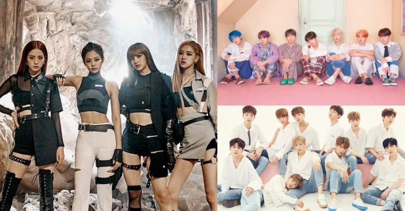2019 福布斯韩国名人榜综合排名,BLACKPINK&防弹少年团&Wanna One排前三