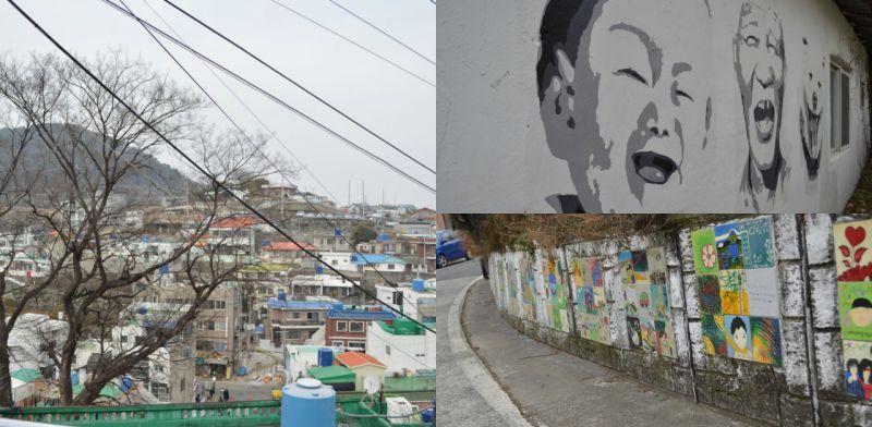 小漁港上的彩色村落:東崖壁畫村