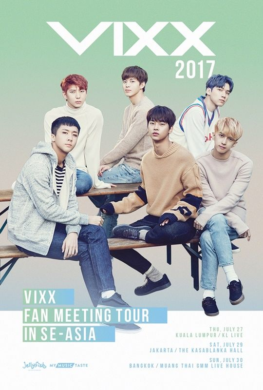 VIXX 回應粉絲邀請 7 月將舉行東南亞巡迴見面會