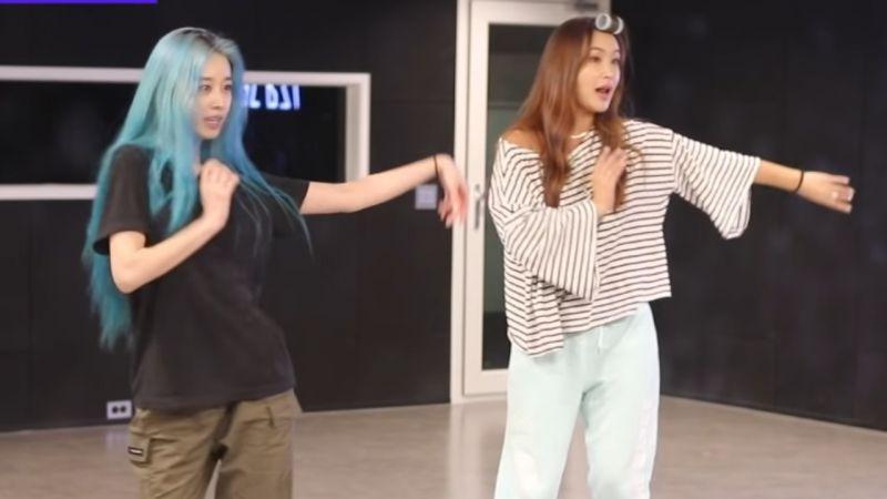 智妍×裴允静合作表演《Señorita》舞蹈,裴老师一边吼一边教智妍