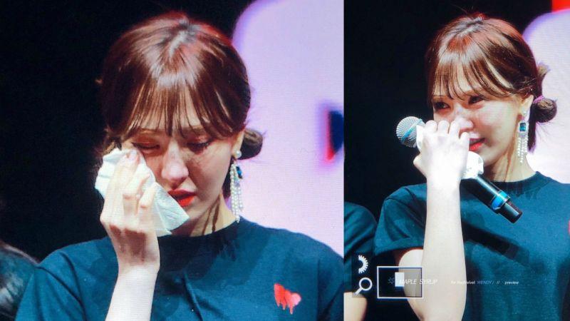 在外拼搏7年第一次回家! Red Velvet Wendy在多倫多演唱會落淚:「我愛的所有人都在這裡! 」