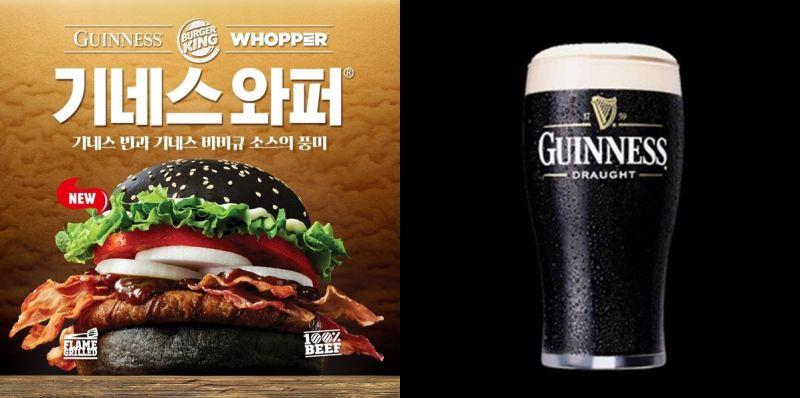 汉堡王 X Guinness限定联名美食《黑啤酒碳烤牛排华堡》上市