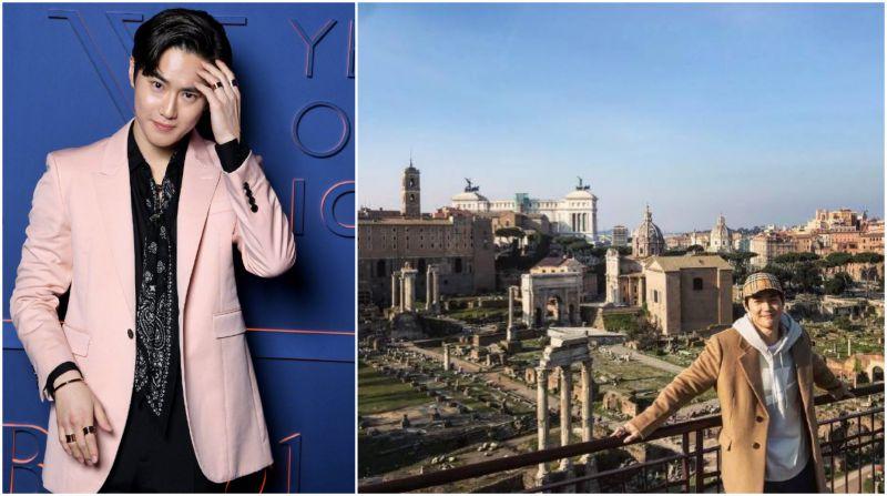 应邀出席时尚活动  EXO SUHO罗马旅行照美成风景