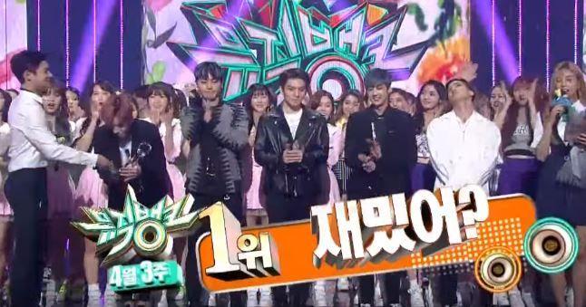 时隔一年 TEEN TOP 再度征服音乐节目啦!