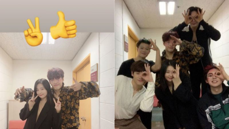 Red Velvet Seulgi&姜河那意外人脉的同框!粉丝:这是강氏兄妹啊~