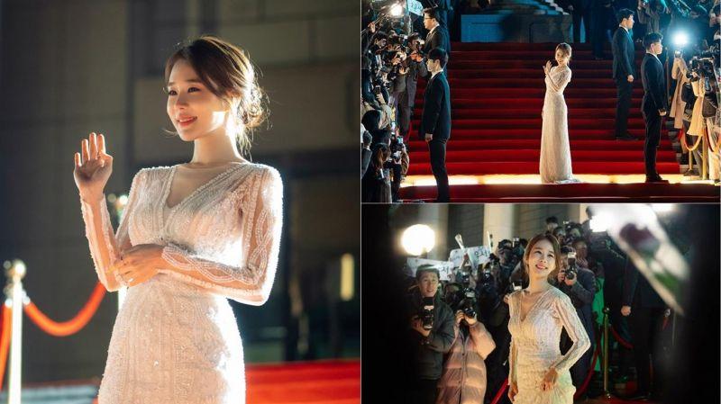 姐姐真的太美了!《觸及真心》公開劉寅娜晚禮服走紅毯大展女神姿態