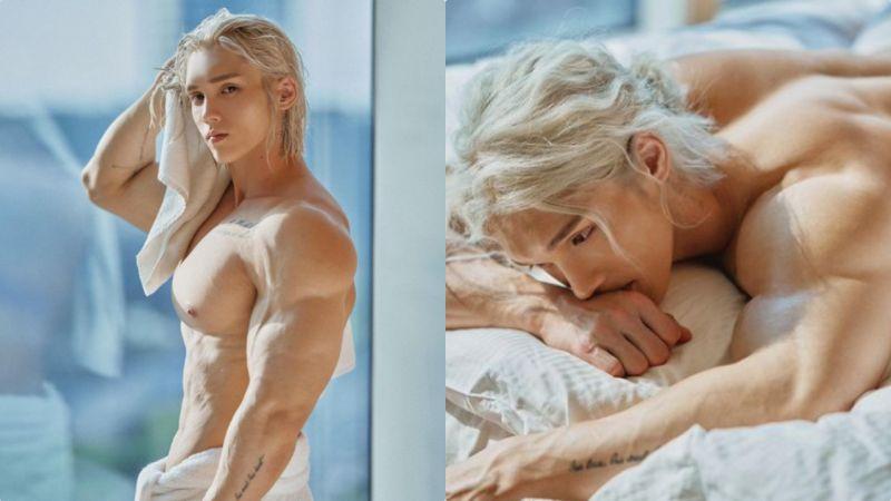 这位健美欧巴太养眼了,肌肉怪兽+空灵白金发的结合体,根本就是现实版精灵王子