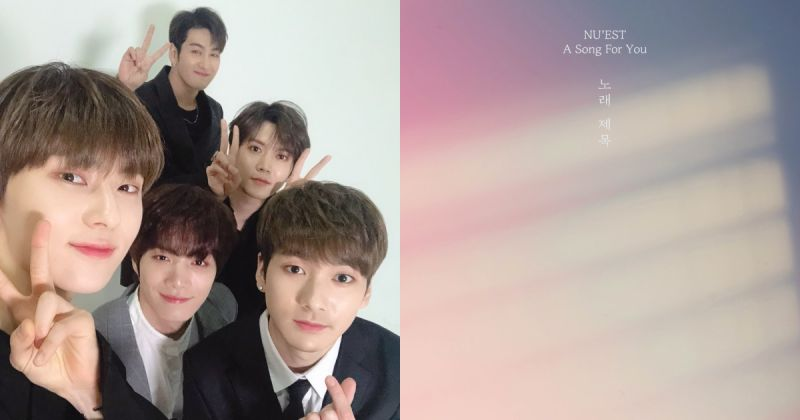 NU'EST 特別新歌〈A Song For You〉唱出感動心情 奪 12 國 iTunes 冠軍!