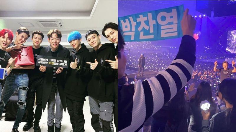 EXO「忙内经纪人」张圣圭出现在演唱会上!高举「朴灿烈」手幅与偶像互动