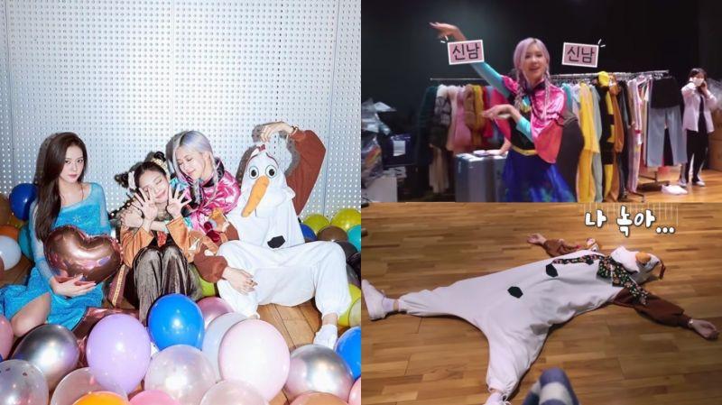 BLACKPINK为纪念出道4周年,装扮成「冰雪奇缘」角色跳舞!公主们&非公主们的准备过程超反差 XD