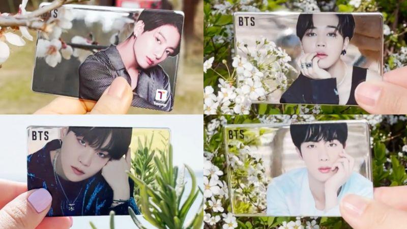 超美啊!BTS防弹少年团最新合作款「镜面交通卡」全韩CU开售,实物图公开!