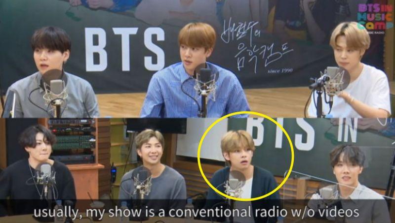 【有片】BTS防弹少年团V偷偷整理衣服却被告知「这是看得见的广播」!他真的慌了XD