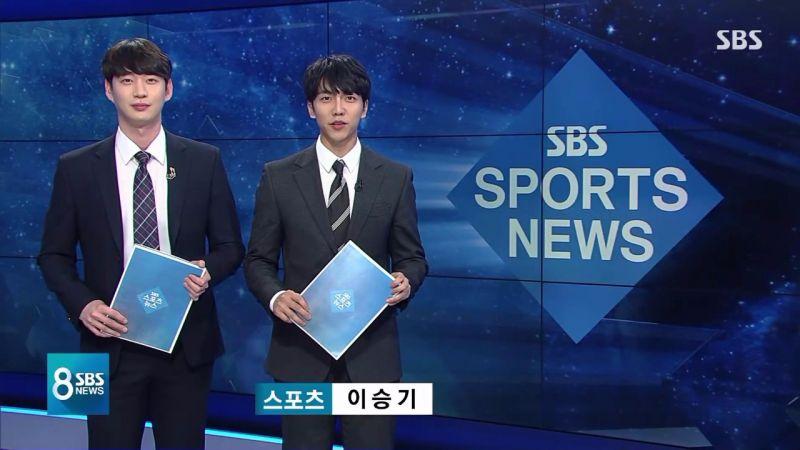 李昇基驚喜現身SBS體育新聞,變身「一日主播」!