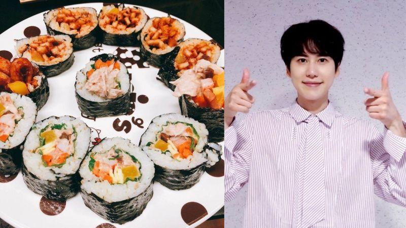 終於擺脫「漢江拉麵」的魔咒?SJ圭賢分享了自己做的紫菜飯卷,看起來很美味呢!