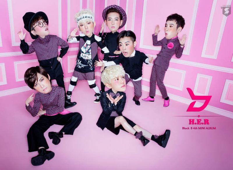 Block B曝新專輯《H.E.R》萌版大頭娃娃宣傳照