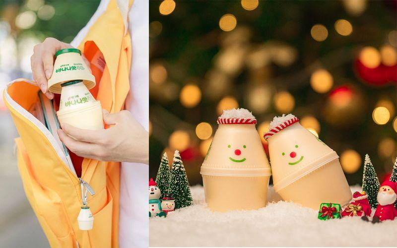 聖誕節一到就會變身的香蕉牛奶?真的太可愛了~