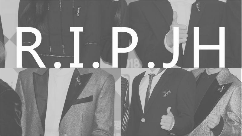 SBS歌謠大戰紅毯上EXO、Red Velvet、NCT127以「R.I.P. JH」黑絲帶追悼鐘鉉