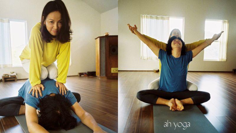 这对真的让人太羡慕了!李孝利&李尚顺做夫妻瑜伽:幸福笑容根本藏不住