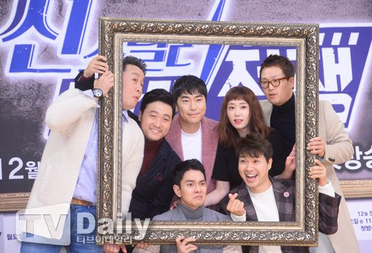 【OUTFIT】鄭敦夏&朴秀宏等人出席《Scene Stealer—Drama戰爭》發佈會