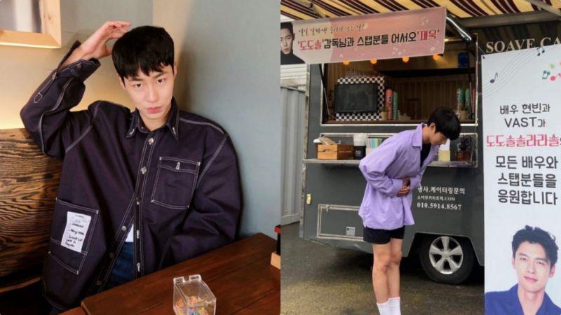 李宰旭收到炫彬应援咖啡车:90度弯腰鞠躬谢谢前辈!两人缘分竟是这样深
