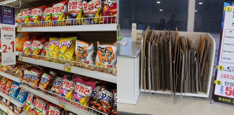 【旅遊資訊】今年底開始韓國超市不再提供紙箱了!