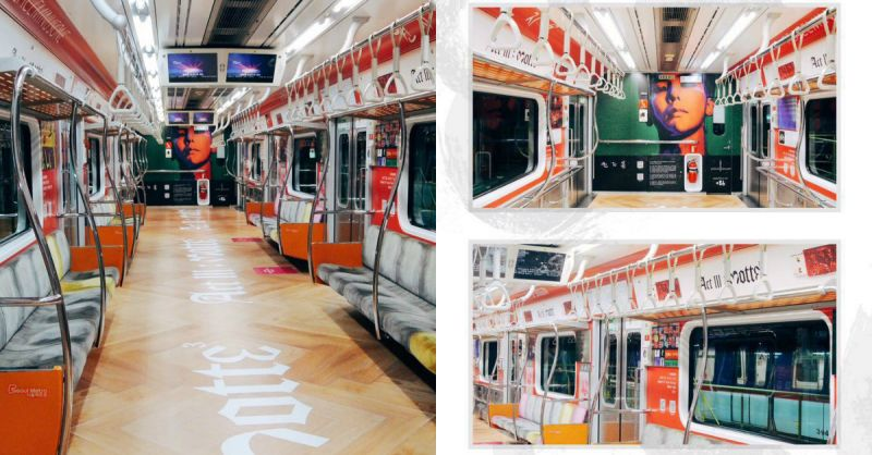 VIP打造「权志龙主题车厢」!最近有要去首尔玩的人一定要去搭一下啊!