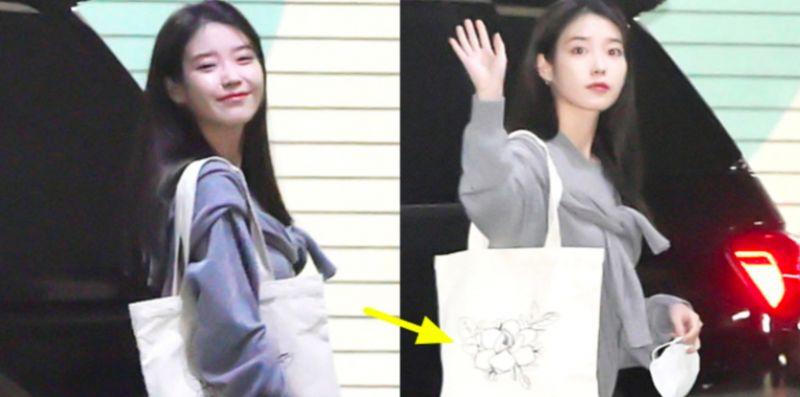【K社韩文小百科】IU街拍美照环保袋亮了!连秀智&V都爱这个品牌