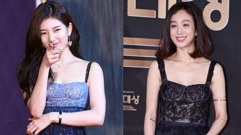 秀智VS鄭麗媛:誰的緊身胸衣連衣裙更搶眼?