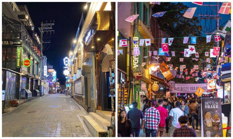 【旅遊資訊】近期的梨泰院夜景:人跡寥寥、道路空曠,與往日風光對比鮮明