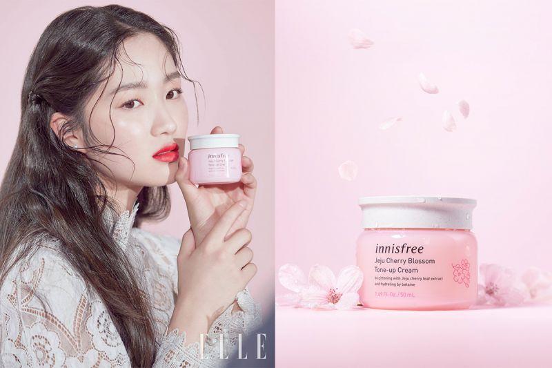 讓你粉嫩粉嫩的素顏霜:Innisfree 濟州櫻花素顏霜!