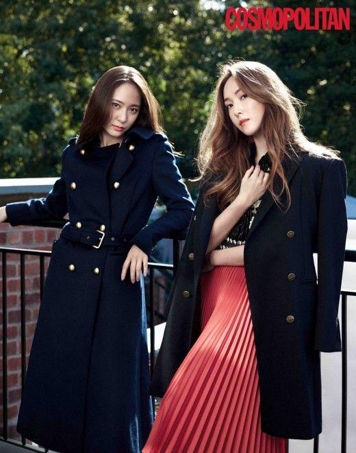 鄭秀妍、Krystal時尚畫報公開 優雅高冷的鄭姐妹