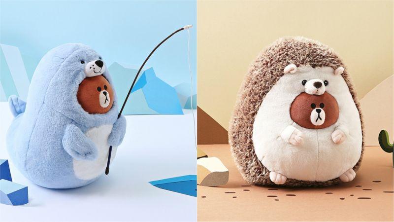 萌货的变身是无罪的~LINE FRIENDS熊大变身海狗、刺猬!