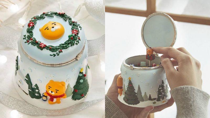 KAKAO FRIENDS Ryan音樂盒充滿聖誕氣息,裡面有個精緻的小客廳呢!