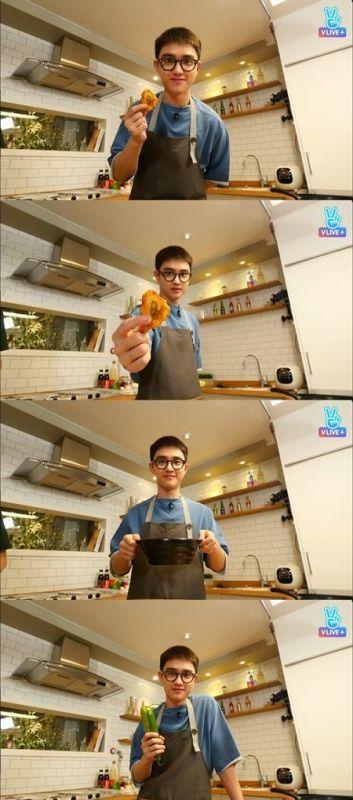 EXO D.O.直播秀廚藝 成員XIUMIN和CHEN大讚好吃