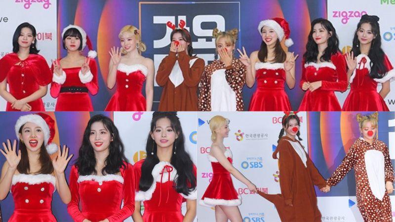 【2019 SBS歌謠大戰紅毯】愛豆們盛裝出席,TWICE還換上了聖誕裝呢!