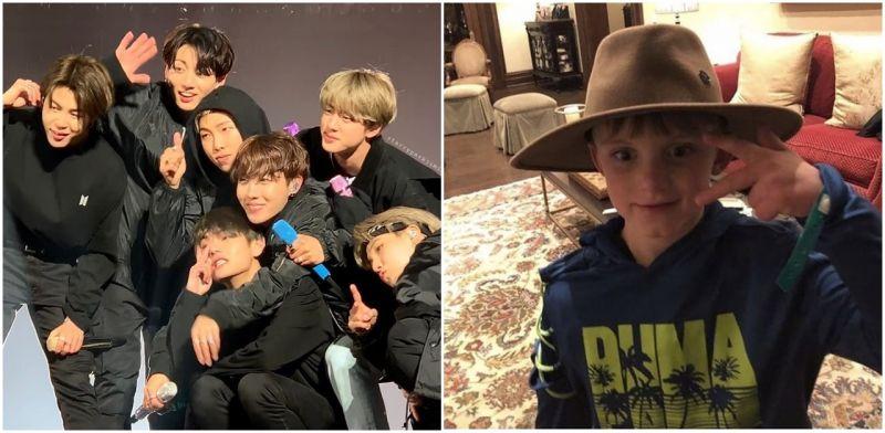 [有片]BTS防彈少年團這麼近!V贈帽子+JIMIN甩帽T+柾國RM拿粉絲手機!