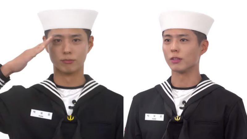 【有片】朴寶劍軍中近況:穿海軍服拍宣傳片,帥氣有型堪比拍電影!