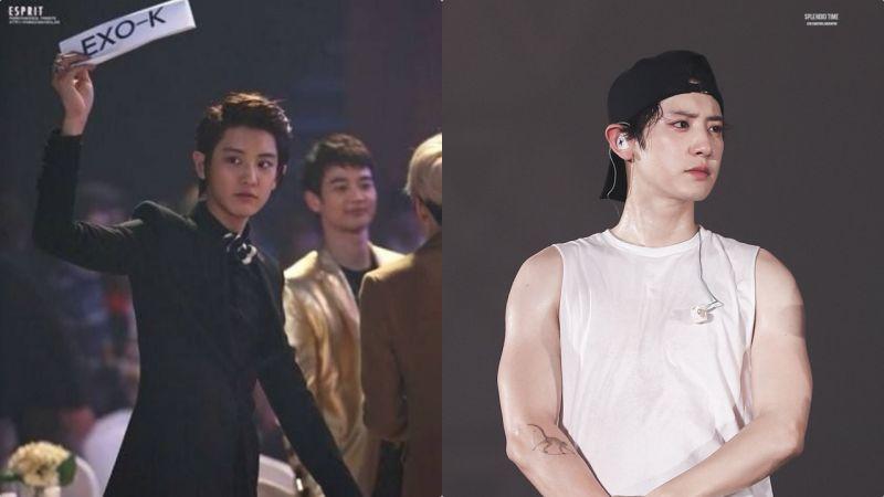 EXO燦烈健身前VS健身後:變化巨大!穿衣顯瘦脫衣有肉♥
