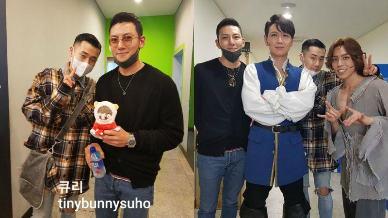 池昌旭、INFINITE圣圭休假结伴看音乐剧,遇到EXO SUHO粉丝也欣然答应拍照