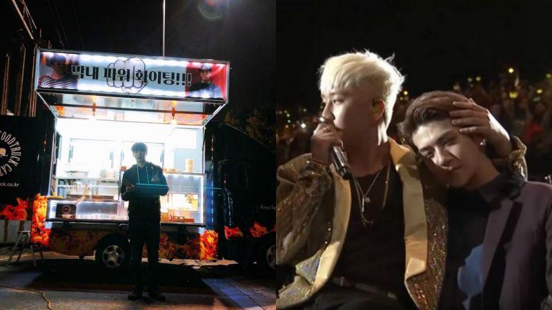 「忙內POWER FIGHTING!」BIGBANG勝利為拍電影的EXO世勳送去應援餐車