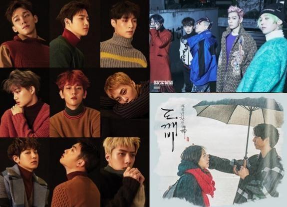 韩国音源榜进入EXO、Crush、Bigbang三分天下时刻