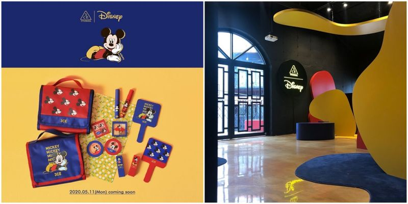 《3CE X Mickey Mouse》多款联名商品还有米奇快闪店